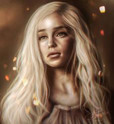 Daenerys Targaryen - Game of Thrones by iCookieday