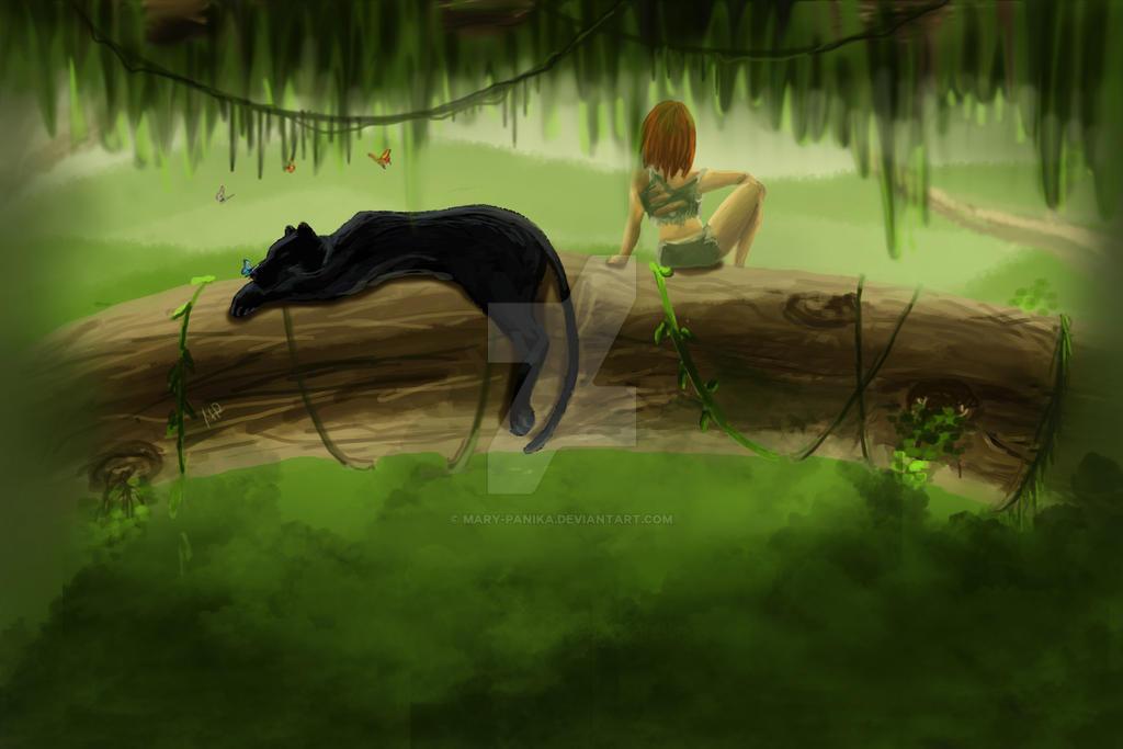Mowgli girl by Mary-Panika