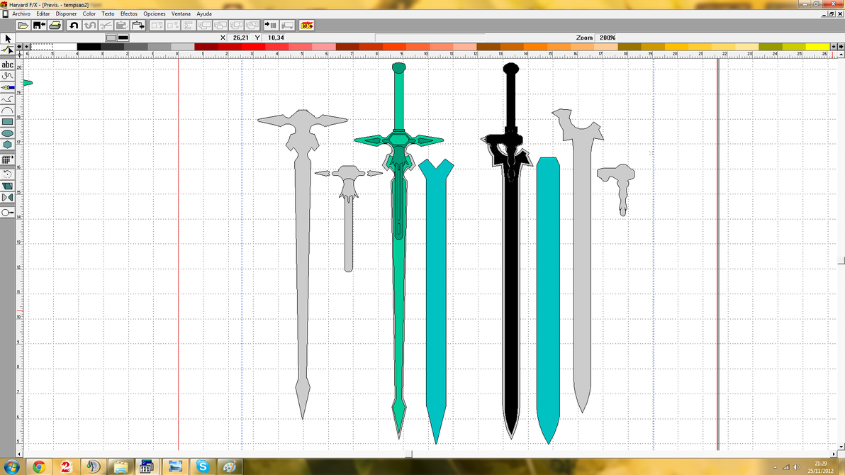 Working on kirito 39 s sword elucidator templates by for How to make online art
