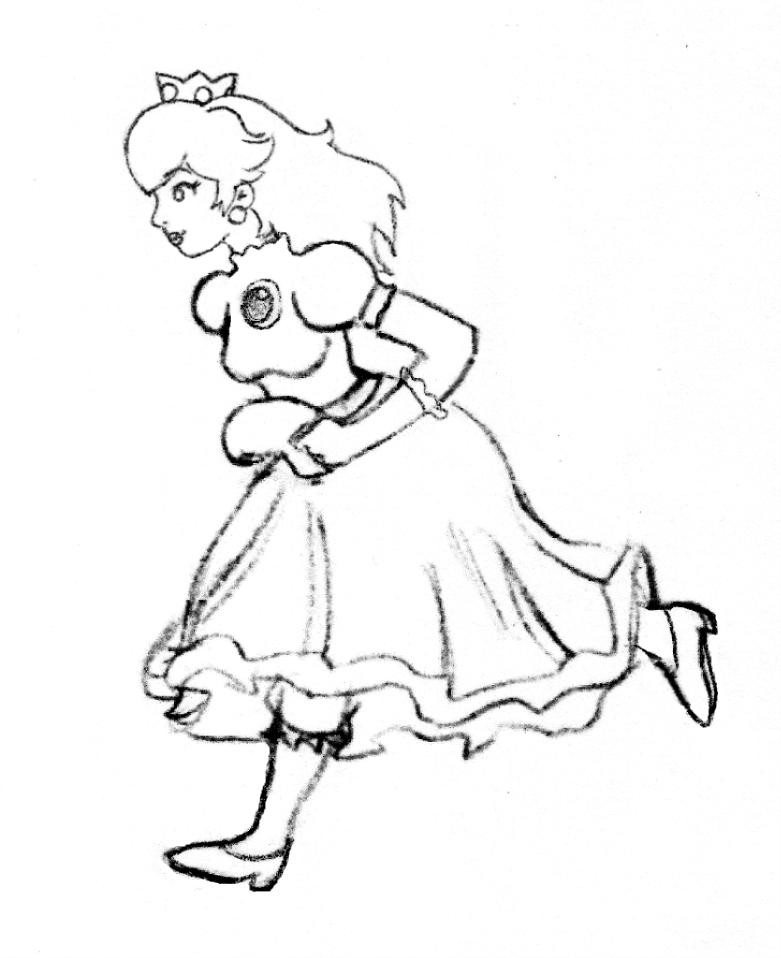 Princess Peach Running by flynn1978