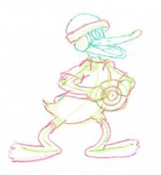 Daffy Duck TRON WIP