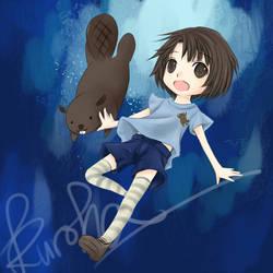 Nei.- In the water. - by kurohatea