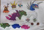 Buncha' Kaiju doodles by IriStansSkipper