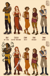 AATAVEITH - Main Characters Outfits