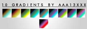 10 Gradients by aaa13xxx by aaa13xxx