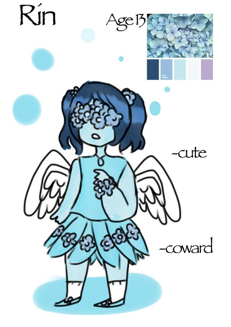 auction on blue flower girl  (OPEN) by bluesweatermoron90