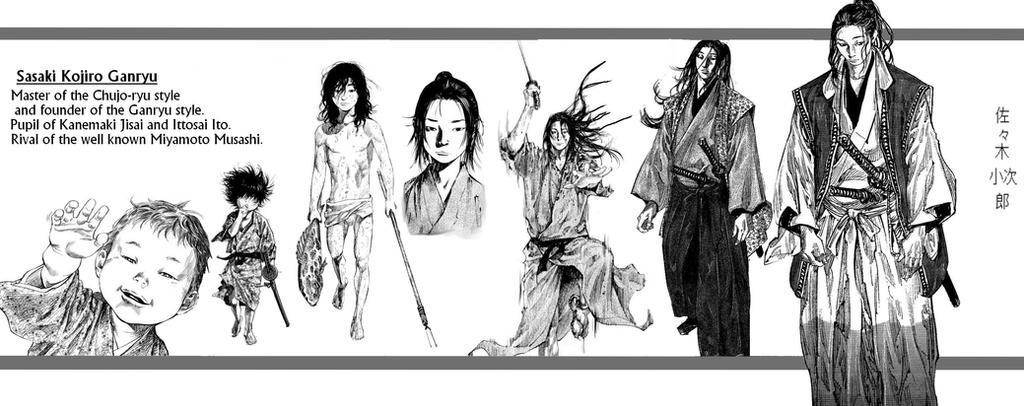 Evolution Of Kojiro Sasaki The Ganryuu Swordsman By Kibasennin