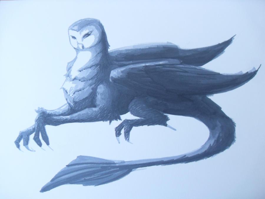 Owl Dragon by Bean056 on DeviantArt