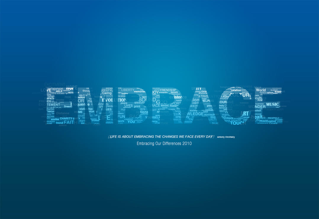 Embrace Typography by Techmaster05