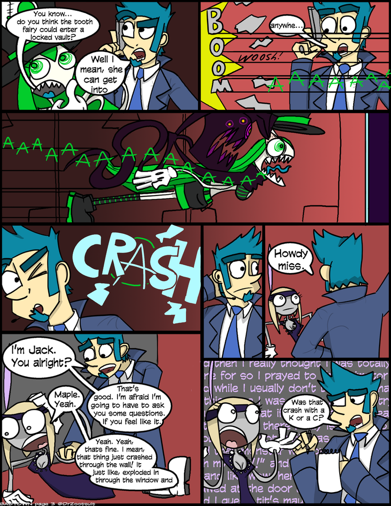 BADTOWN, page 3 by DrZootsuit