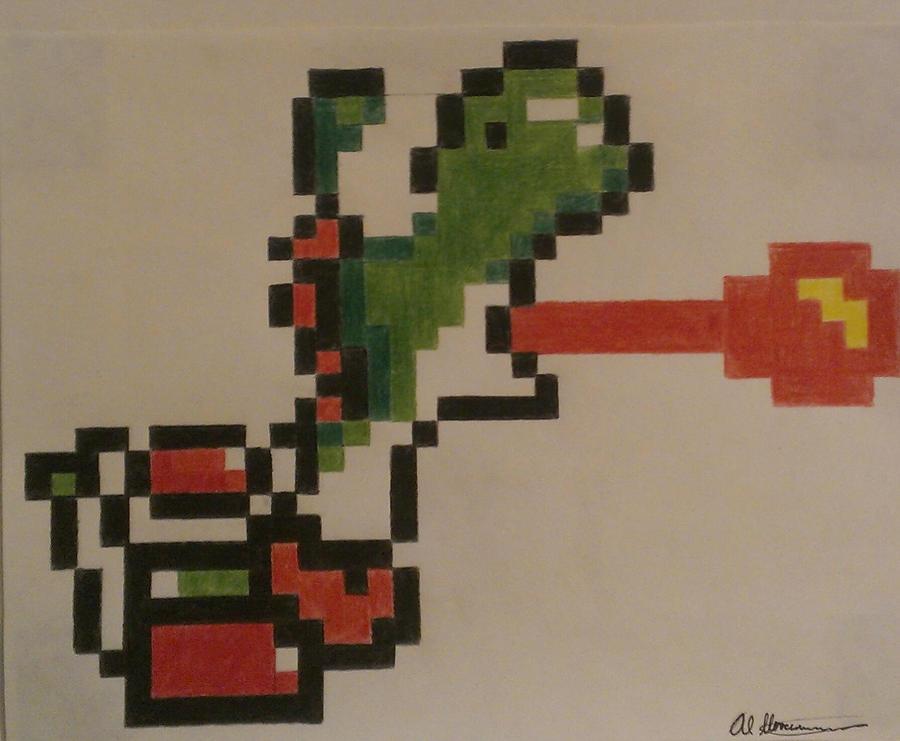 Super Mario World Yoshi Pixel by AlHerrenschmidt on DeviantArt