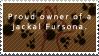 Owner o Jackal Fursona -stamp- by 1LoveDrew