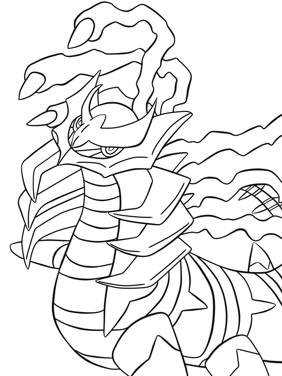 giratina coloring pages - giratina lineart by onelovedrew on deviantart