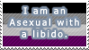 Asexual with Libido (Part of a couple of stamps) by OneLoveDrew