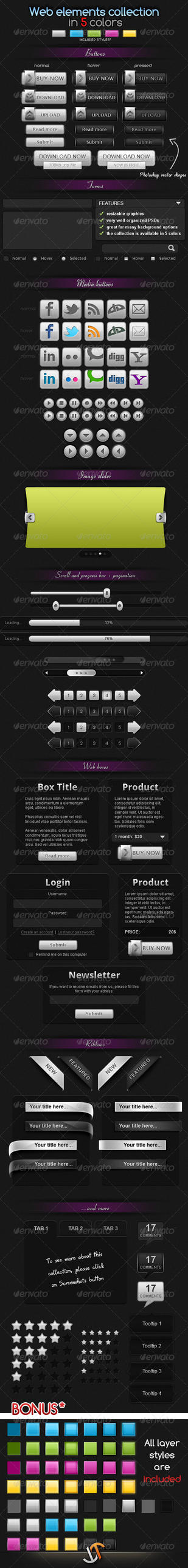 Huge web elements collection by stefusilviu