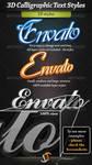 Calligraphic 3D text styles