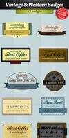 Vintage and western badges