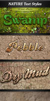 Nature Photoshop Text Styles by stefusilviu