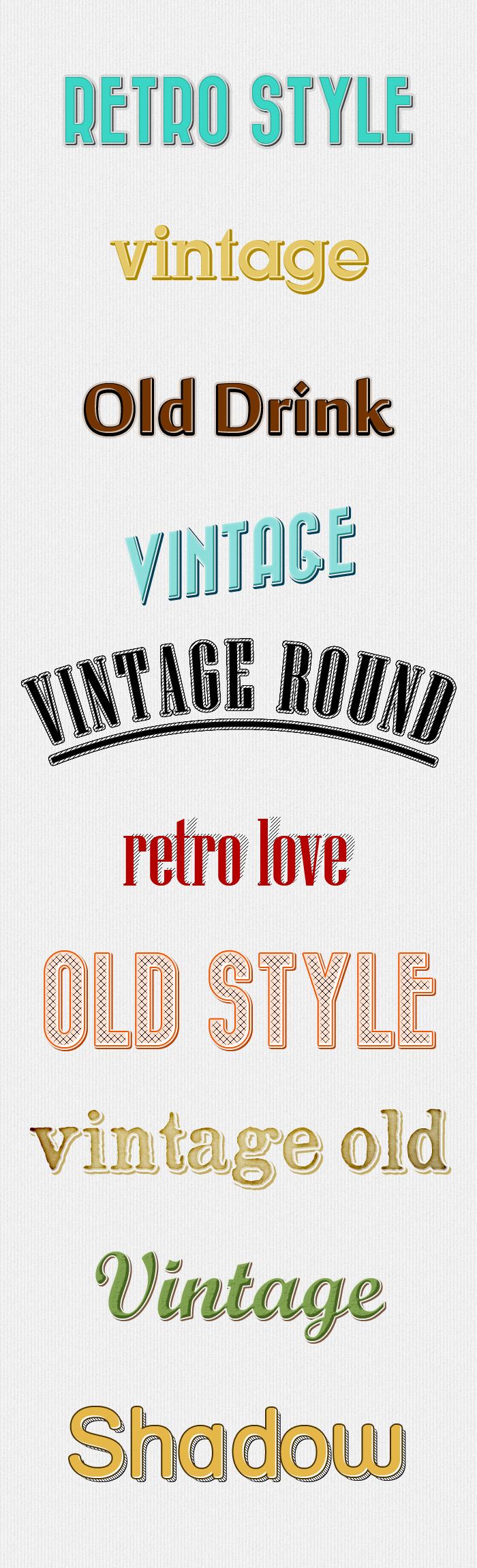 Retro Text Styles by stefusilviu