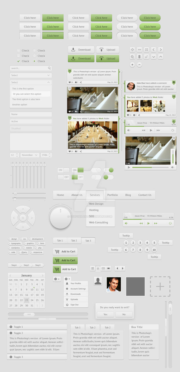 Whitepixels user interface kit by stefusilviu