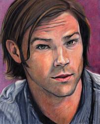 Sam in colored pencil