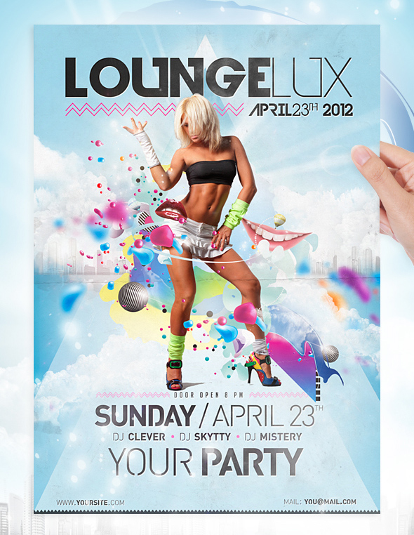 Lounge Party Flyer Template By Jellygraphics On Deviantart