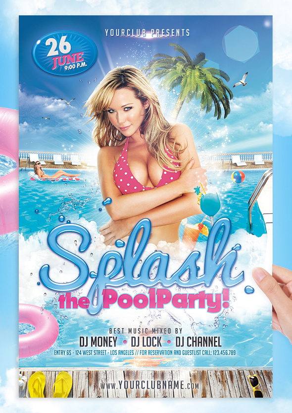 Splash Pool Party Flyer Template By Jellygraphics On Deviantart
