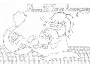 Happy 2nd Year Anniversary - lineart