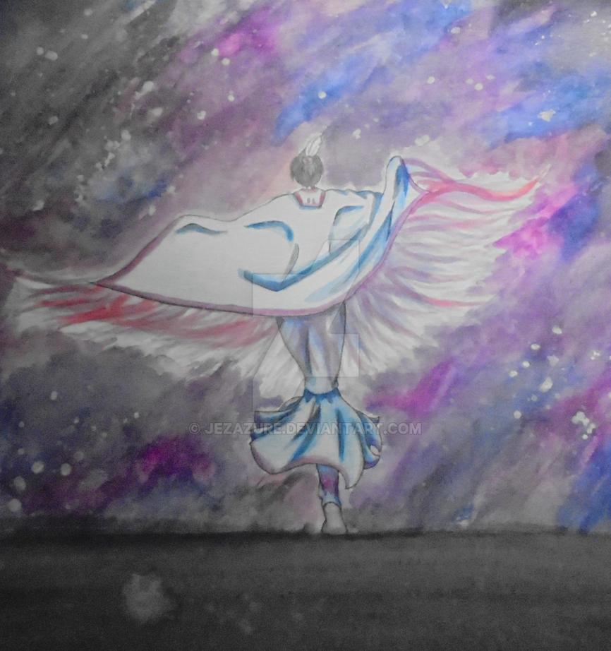 Fancy Shawl Dancer by JezAzure