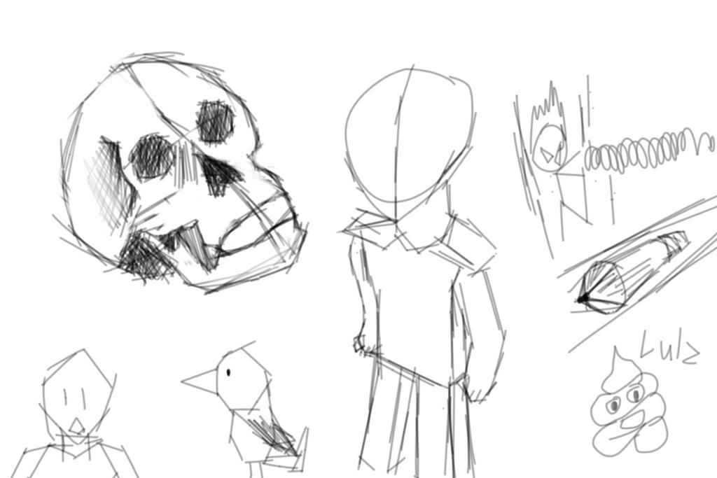 Me Practicing Drawing thingies by legendaryninjaA