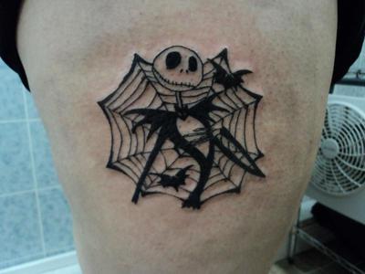Jack skellington tattoo by spellfire42489 on deviantart for Jack skellington and sally tattoos