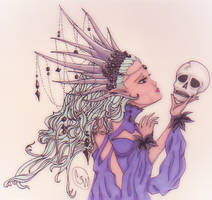 Forgotten Queen of Dark Elves by spellfire42489