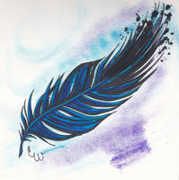 BlueAndPurpleFeather by spellfire42489