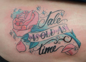 83599204e spellfire42489 1 0 Tale As Old As Time Rose Tattoo by spellfire42489