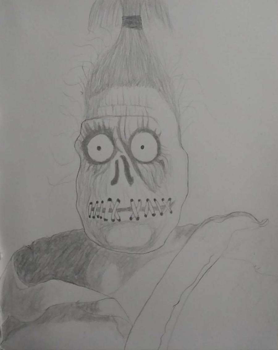 Shrunken Head Guy Beetlejuice By Ninjahnatas On Deviantart