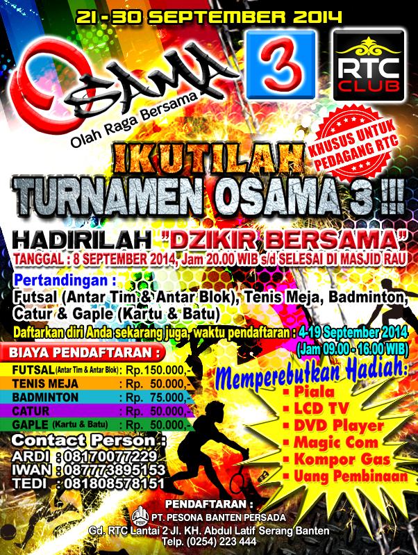 Brochure OSAMA (Olah Raga Bersama) 3 2014 by cyclones