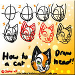 How to draw a cat head