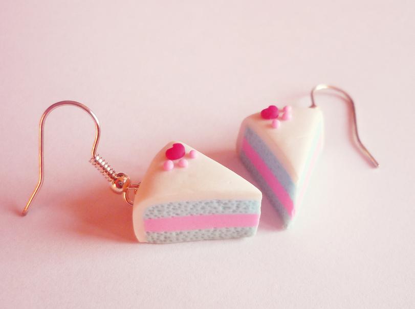 Cake earrings by Kyandi-charms