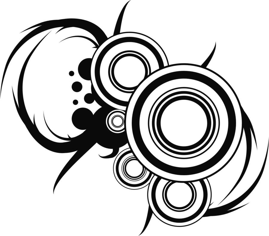 Circle vector design by jackzeenho on deviantart for Black circle vector