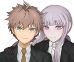 Naegi and Kirigiri