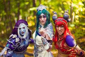 Three Queens of badassdom :) by Akishuna-Cosplay