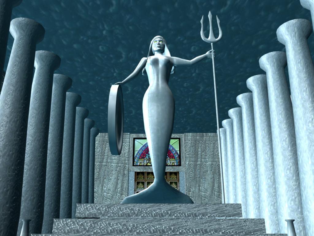 3-D Underwater Temple Inside 1 by Nimue-Amethyst