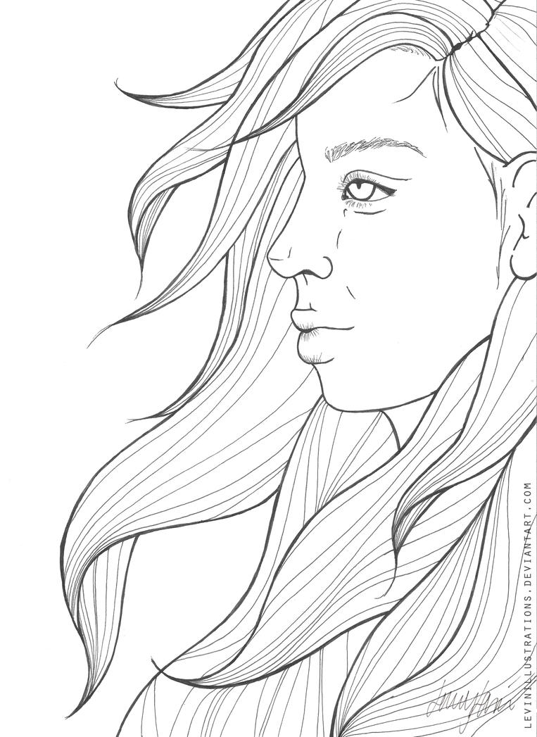 Line Art With Photo : Those lines line art by levinillustrations on deviantart