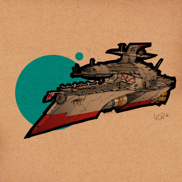 pen and ink boat concept art