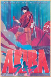 AKIRA: Kaneda Manga Anime Poster by seanplenahan