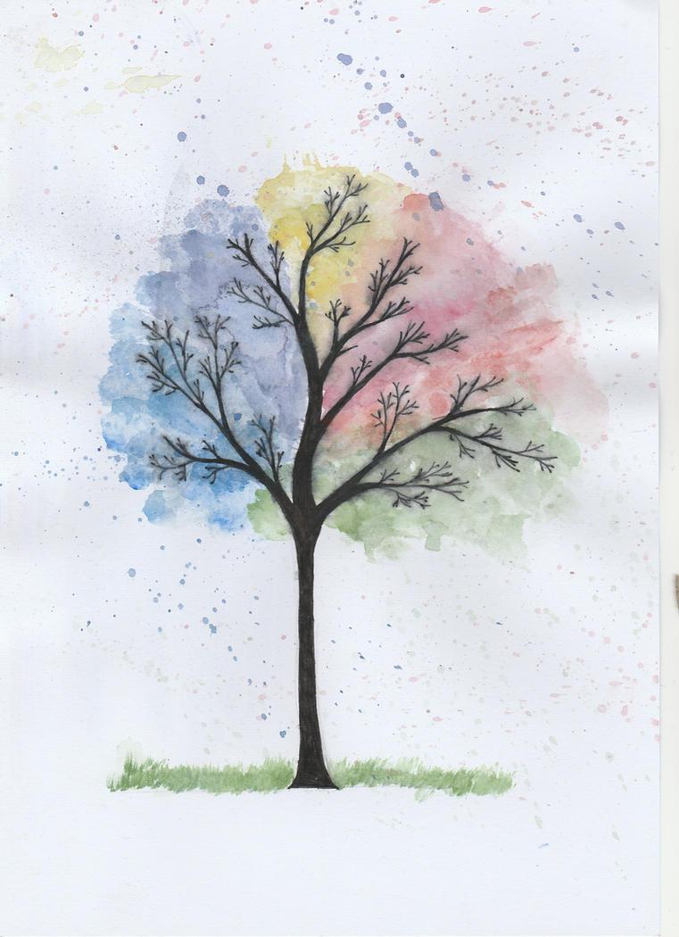 Rainbow Tree! by HellHound567