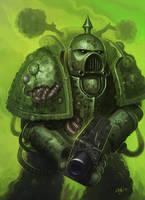 Death Guard Plague Marine by N-Y-O