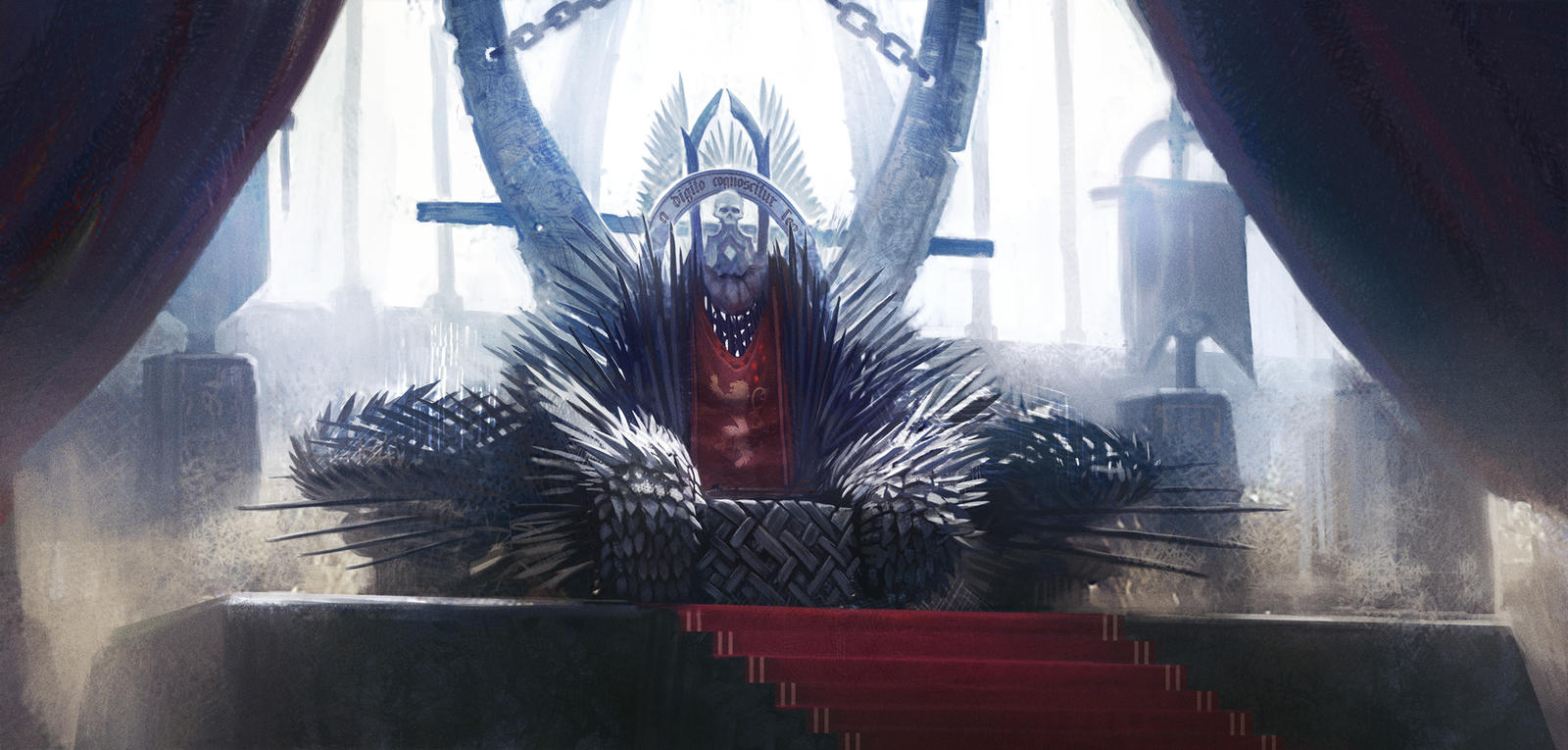 Throne room with iron throne by n y o on deviantart for Iron throne painting