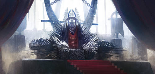 Throne Room with Iron Throne