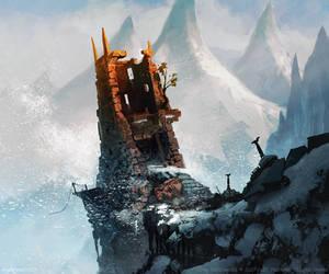 Dwarven Watchtower by Greg Bobrowski by N-Y-O